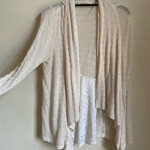 Anthropologie Lace Detail Cardigan